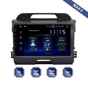 Android 9.0 Car Radio 2 Din GPS Navi for Kia Sportage R 2011 2012 2013 2014 2015 2016 PX6 DSP IPS 4Gb+64Gb 6-Core RDS WIFI SWC(China)