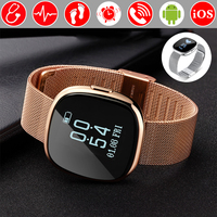 Blood Pressure Heart Rate Monitor Fitness Bracelet Pedometer Smart Band Wristband Tracker Smartband PK Fitbits Xiaomi