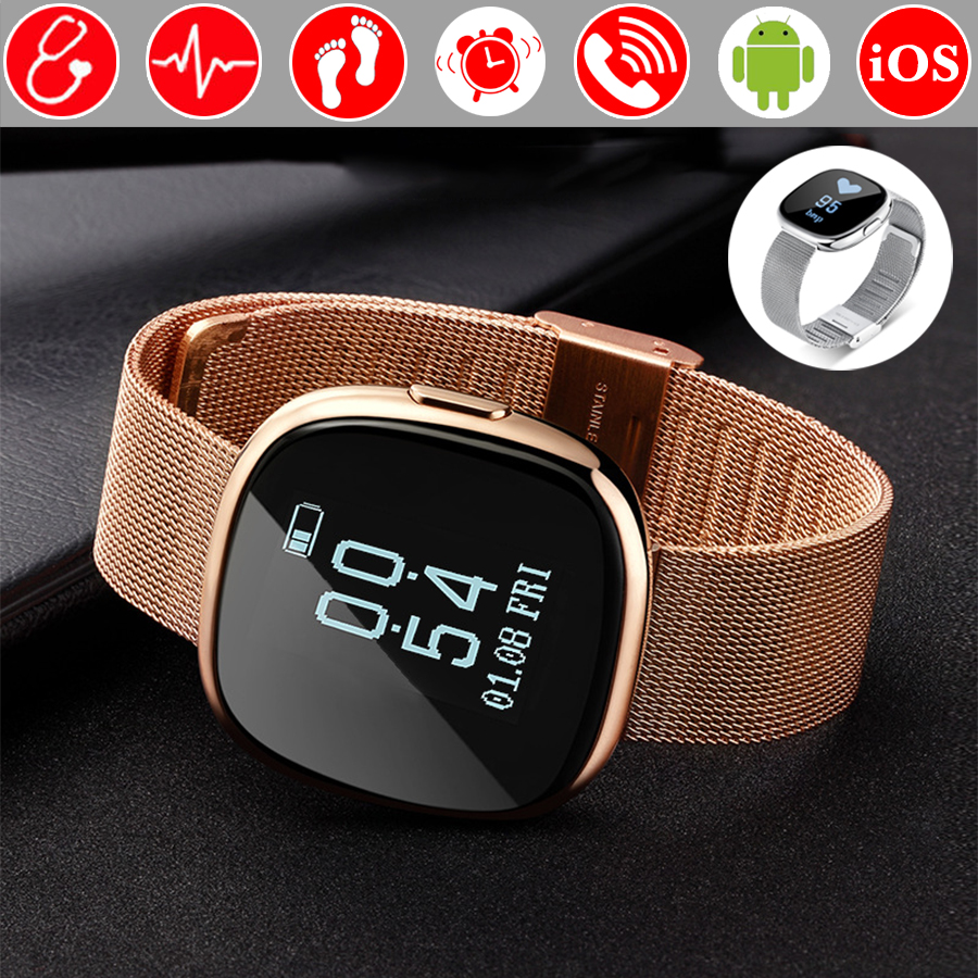 Blood Pressure Heart Rate Monitor Fitness Bracelet Pedometer Smart Band Wristband Tracker Smartband PK Fitbits Xiaomi Mi Band 2 fashion women color screen smart band wristband heart rate blood pressure monitor fitness bracelet tracker smartband pedometer