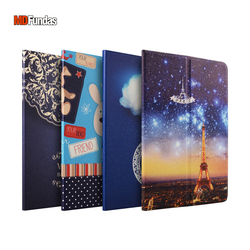 MDFUNDAS Colorful Painted Tablet Case Cover For Xiaomi Mi Pad 3 Mi Pad 2 7.9 Flip Stand Leather Funda For Mipad 2 Mipad 3 Coque bjornled america wall sconce copper wall lamp 2 arm fabric shade light living room restaurant cafe bedroom hotel e14 led lamp