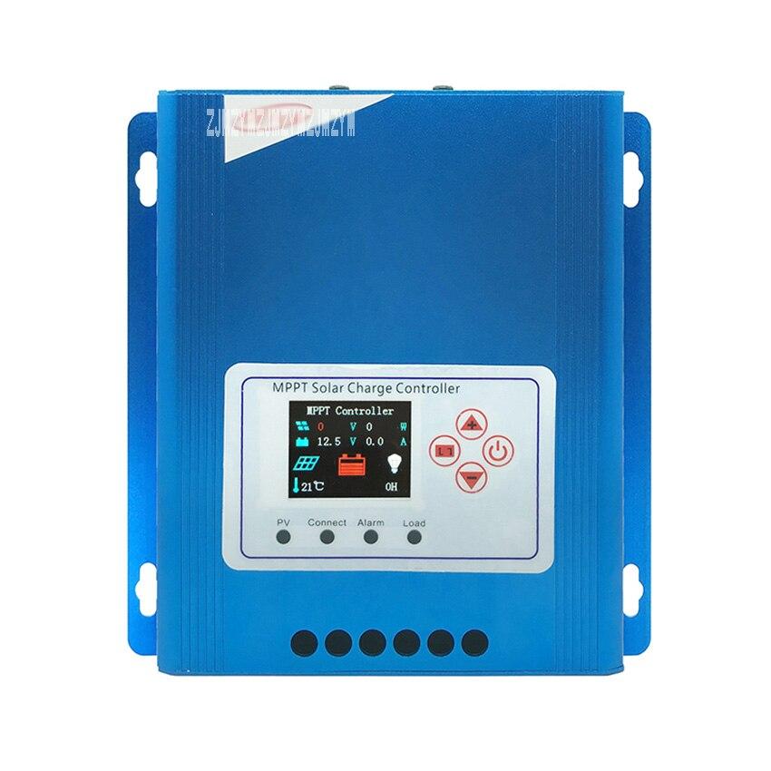 New CPE 48030 12V/24V/48V 30A Full Color LCD Screen Display Aluminum Alloy Shell MPPT Tracking Efficiency Solar Panel Controller