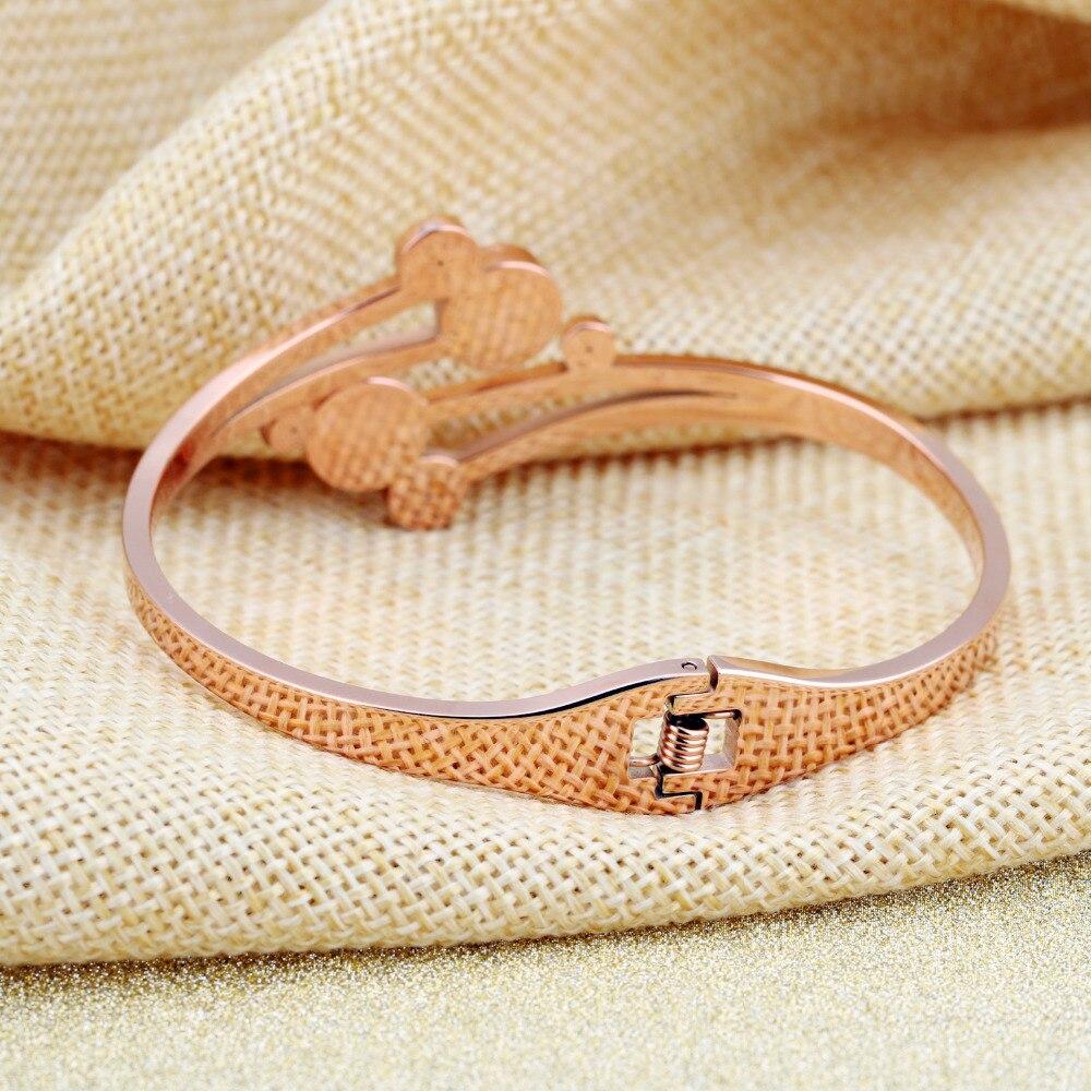 Women Bracelet - Flower Shaped Open Bangle lnlaied Cubic Zirconia 5