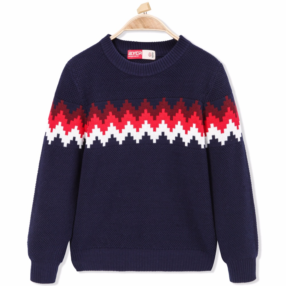 Thermal Sweater Cardigan Round Neck Casual Stripe Clothes Knitwear Snow Wear Pullover for Kid Children Boy Knitted Pullover Soft t100 children sweater cotton toddler boy sweater o neck long sleeve knitted boy sweater brand pullover cute pattern boys clothes