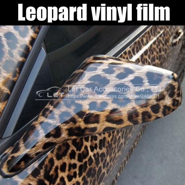 Car Sticker Leopard Printed Car Styling Film Decor Auto Film Vinyl Wrap Car Adhesive Decoration Motorcycle Car Accessories