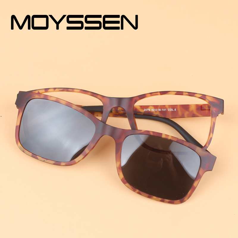 0e4dc032863 MOYSSEN Mirror Polarized Sunglasses Clip Ultem Tungsten Plastic Steel  Myopia Glasses Frame can Fill Optical Prescription Lenses-in Eyewear Frames  from ...