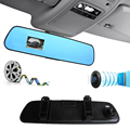 FSTONG DVR Video Car Full HD 1080P Dash Cam Camera 2.4 Inch Rear-view Mirror with Camera and Video Recorder Camcorder CD007BU