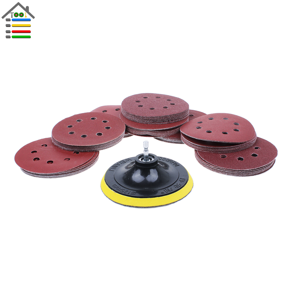 5/'/' Sanding Disc Backing Pad Hook And Loop Pad For Drill Attachment Replaces Kit