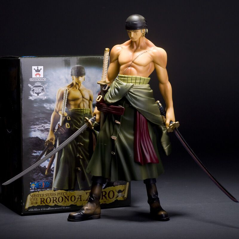 цены на Anime One Piece Roronoa Zoro PVC Action Figure Brinquedos Figuras Anime Collectible Kids Toys 26cm
