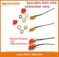 Rápido Envío Gratis 5 UNIDS 5 CM ipex gire cable conector sma WIFI/GSM/3G/4G/cabeza Femenina agujero interior roscado externo sma gire cable ipex