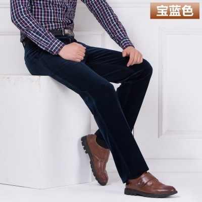 Toptan sonbahar ve kış kalın bölüm kadife günlük erkek pantolonları gevşek orta yaşlı kadife pantolon düz uzun pantolon pl