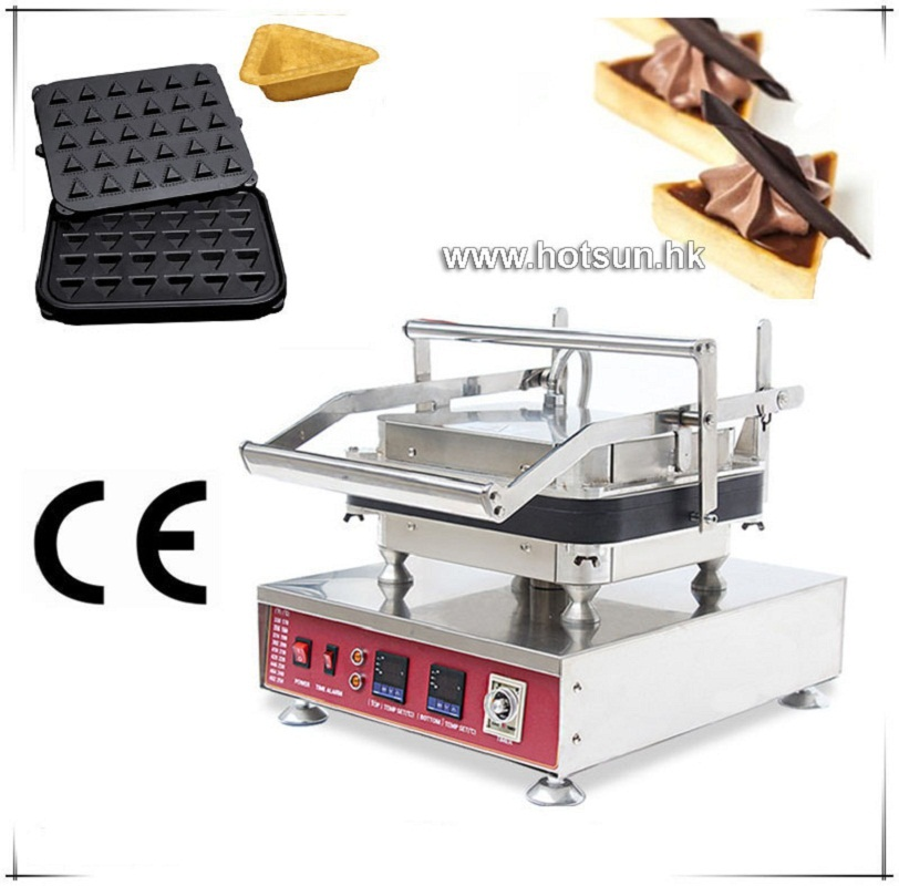 Free Shipping Heavy Duty Non-stick 110V 220V Electric 30pcs Ice Cream Triangle Shape Waffle Maker Machine with Removable Plate free shipping professional non stick 110v 220v electric 12pcs round circle waffle cake maker machine with removable plate