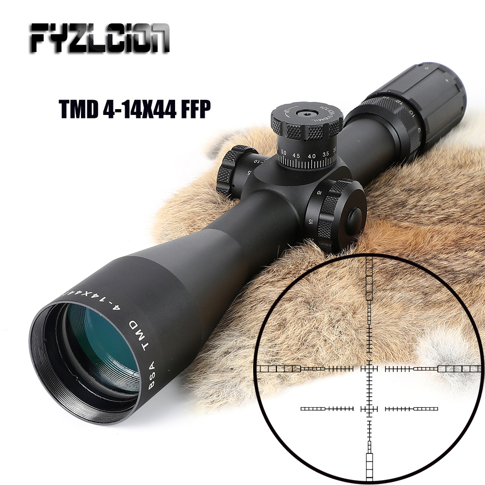 BSA-TMD-4-14X44-FFP-Hunting-Riflescope-First-Focal-Plane-Glass-Mil-Dot-Reticle-Tactical-Optics