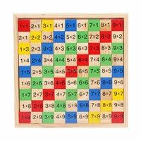 9*9 multiplication table School Educational Supplies children's Mathematics multiplication calculation wooden toys 99pcs blocks