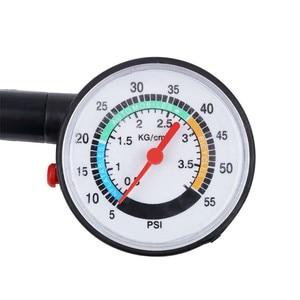 Image 5 - Verificador da pressão de ar da roda do medidor de discagem do medidor de pressão dos pneus 0 50 psi para o caminhão do carro do motor automático