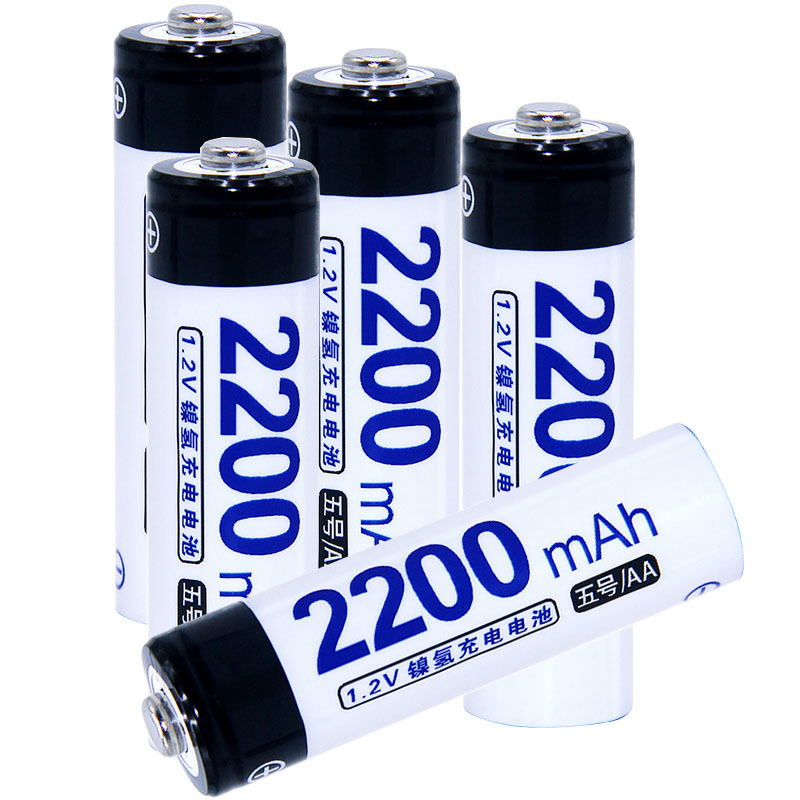 Real capacity! 5 pcs AA 2200mah 1.2V NIMH AA rechargeable batteries for camera razor toy remote control flashlight 2A