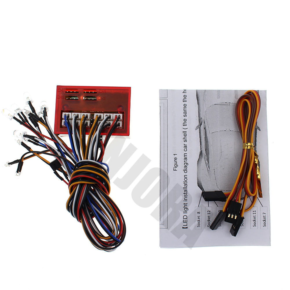 small resolution of smart 12 led flashing lights control system group for 1 10 rc crawler car axial scx10 90046 d90 tamiya hsp traxxas rc car in parts accessories from toys
