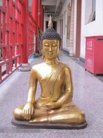 """27 """"Thailand sitz Tathagata Buddha Bronze gild Spitzer kopf Shakyamuni statue-in Statuen & Skulpturen aus Heim und Garten bei"""