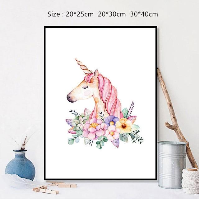 Rainbow Unicorn Poster Canvas Wall Art Painting Decoration