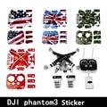 Nueva 4D Etiqueta A Prueba de agua de control Remoto/Drone Shell/Etiqueta de La Batería para Dji Phantom 3 3A Profesional 3 P accesorios Partes