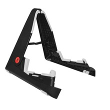 Aroma AGS-01 Foldable Stand A-frame Holder Mount for Guitar Bass Stringed Instrument Universal Compact Space-saving