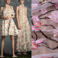 3D Pink Flowers Lace Fabric Peach Blossom Lace Fabric Africa Evening Dress Lace Fabric Wedding Dress