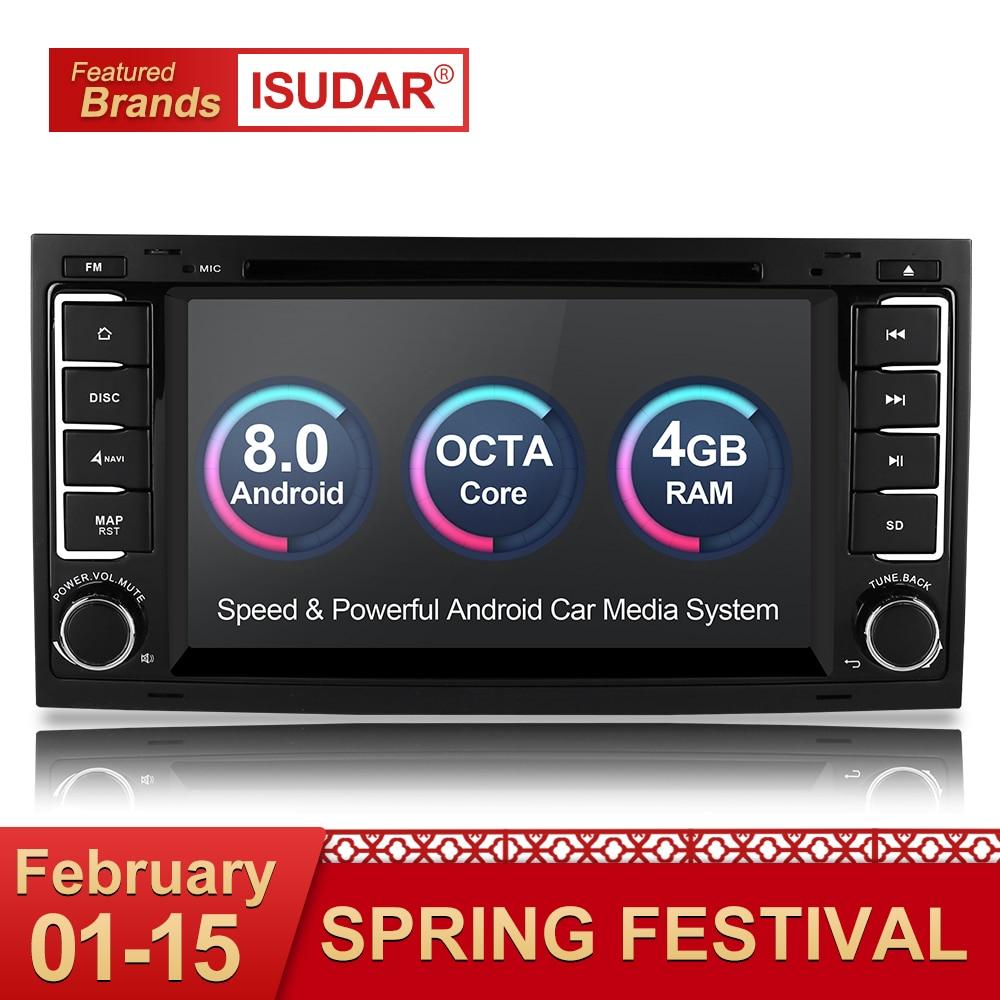 Isudar Автомагнитола 2 Din с 7 Дюймовым Экраном на Android 8.0 Для Автомобилей Volkswagen/Touareg 8 Ядер 4G RAM 32G ROM DVD