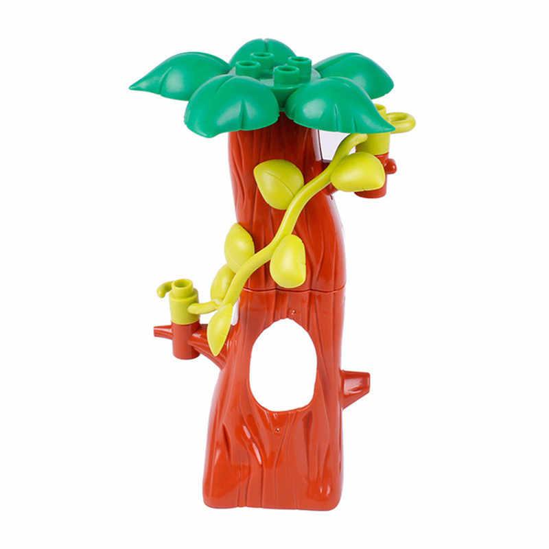 Grandes bloques de construcción de partículas figura cama sofá perros casa árbol accesorios compatibles con juguetes Duploed para niños regalo