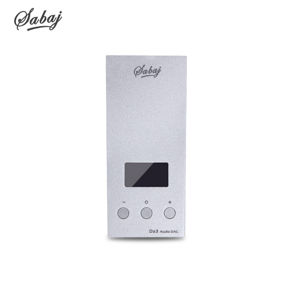 SABAJ Da3 Minuscule DAC/Amplificateur Hifi SALUT-Res Casque Amplificateur Portable USB DAC Écran Sortie Symétrique Native DSD512 32bit/768 khz