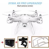 X8 PRO GPS Drone SYMA Rc Quadcopter Automatycznego Powrotu Z 1 zdjęcie aparat i jeden 4 k HD Action Camera Dual Gimbal Wysokie Podwozie