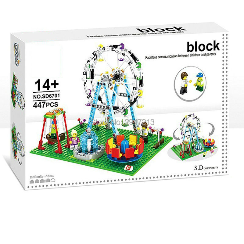 2017 hot compatible LegoINGlys city mini Street View Building blocks Amusement Park With figures brick Toys for children gift compatible lepin city mini street view building blocks chinatown satin silk store with saleman figures toys for children gift