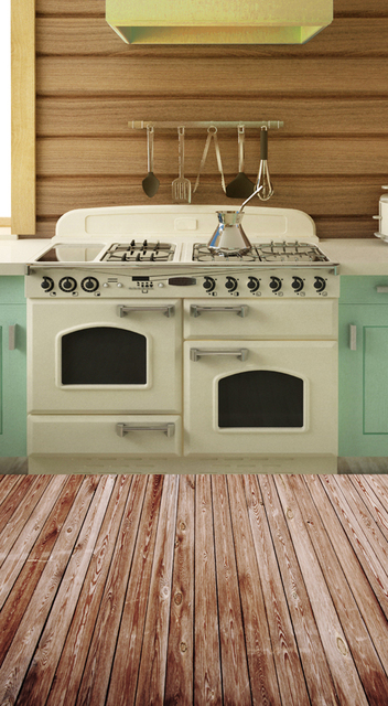 HUAYI Retro Kitchen Photography Backdrop Vintage Kitchen Cooking Backdrop  Background For Photo Studio Xt 4695