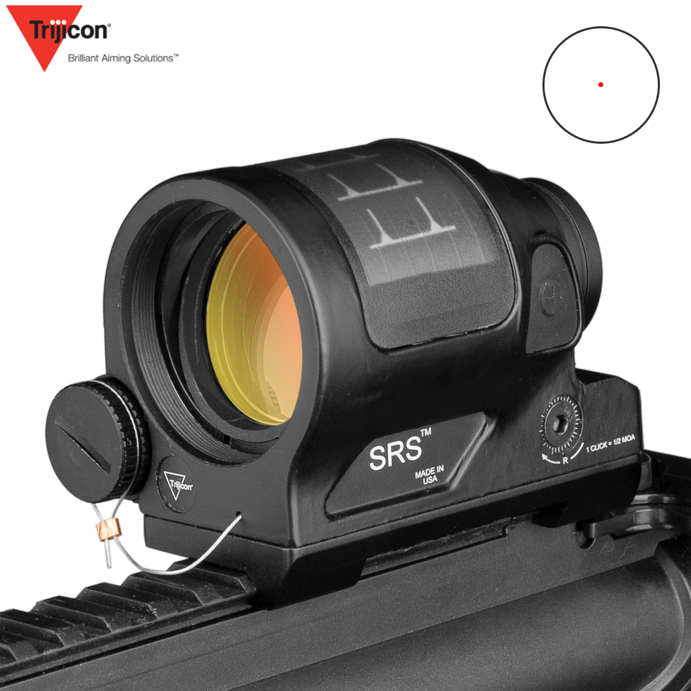 SRS Hunting Reflex Sight Solar Power System Hunting 1X38 Red Dot Sight Scope With QD Mount Optics Rifle Scope|Riflescopes| |  - title=