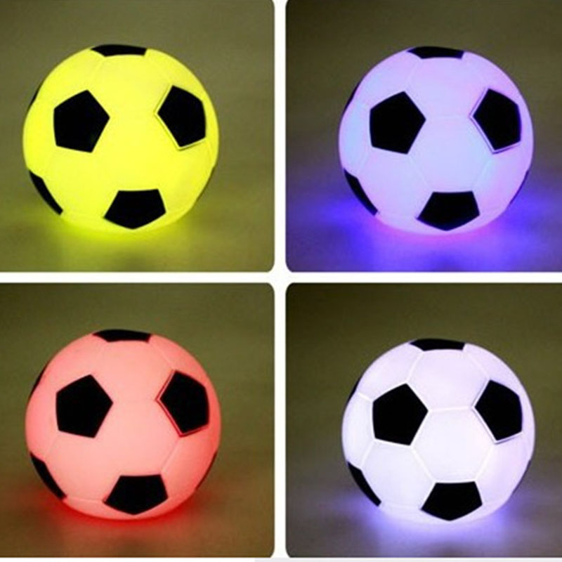 1PCS LED Color Changing Night Light Football Lamp Mood Party Christmas Decoration Beautiful Gift for Kid Friend 3C