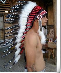 Indiens d'amérique du nord chapeau plume coiffe chef casquettes Tradition Vintage