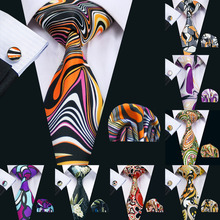 Men Tie Printed New Necktie Gravata Neckwear Barry.Wang Fash