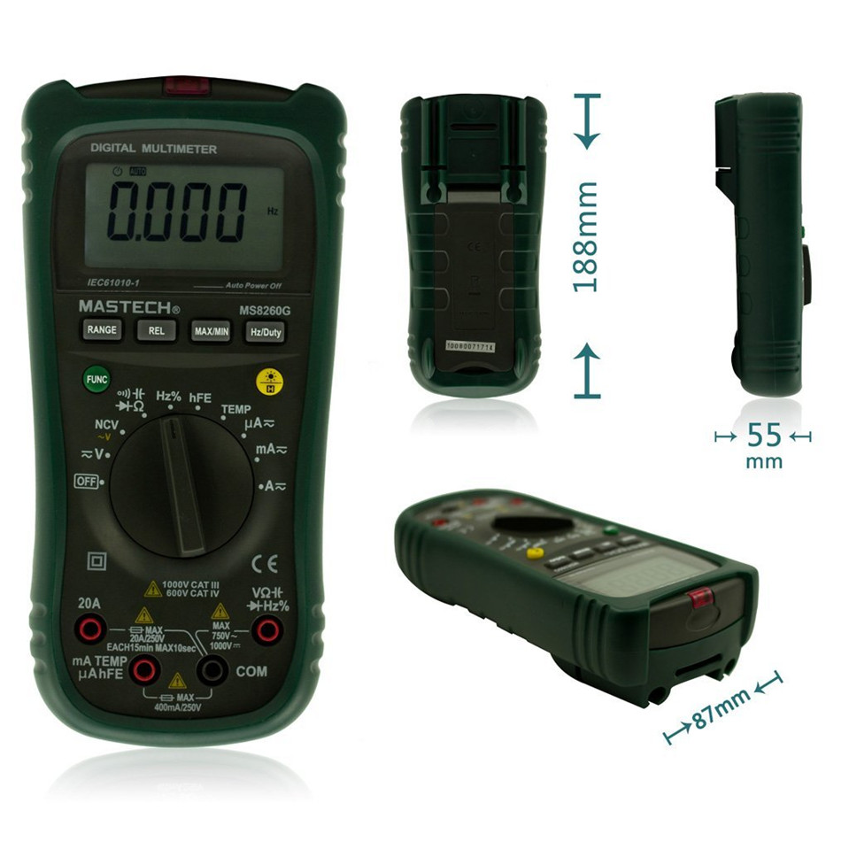 Newest MASTECH MS8360G Auto Range Digital Multimeter ohm voltage current Capacitance Frequency Temperature Meter upgrade MS8260G mastech my68 handheld lcd auto manual range dmm digital multimeter dc ac voltage current ohm capacitance frequency meter