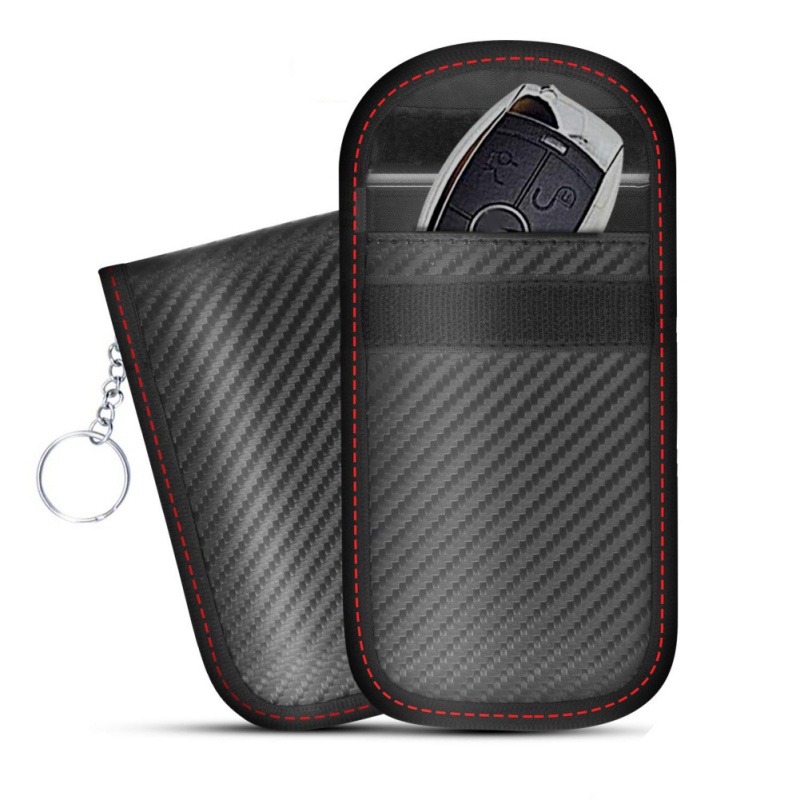 2019 RFID Signal Blocking Bag Cover Signal Blocker Case Faraday Cage Pouch For Keyless Car Keys Radiation Protection Cell Phone