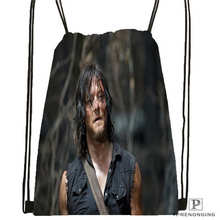 Custom Daryl-Dixon-The-Walking-Dead@01- Drawstring Backpack Bag Cute Daypack Kids Satchel (Black Back) 31x40cm#180611-01-41
