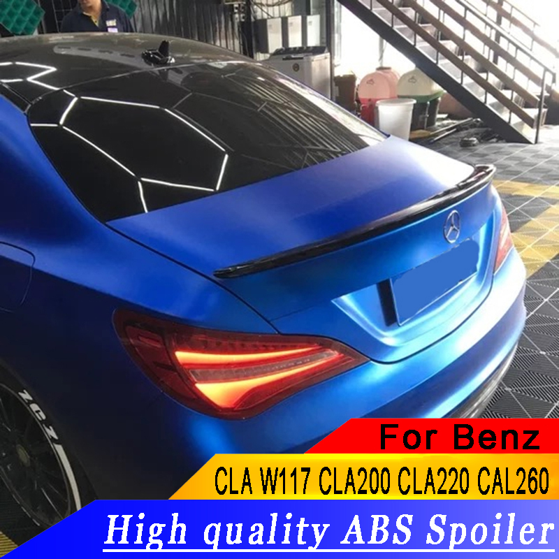 For Mercedes Benz CLA W117 CLA200 CLA220 CAL260 2013 to 2018 high quality streamline spoilers rear trunk wing spoiler