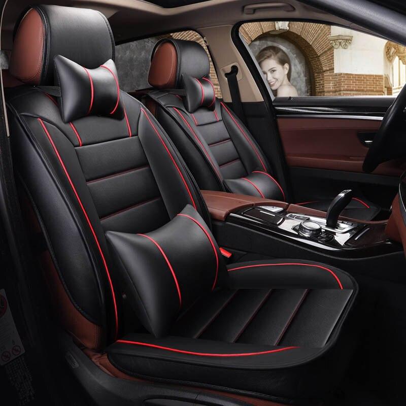 Housse de siège de voiture en cuir sièges de voiture pour Chevrolet sail Kewozi Cruze Malibu Cop accessoires d'intérieur siège protecteur de voiture