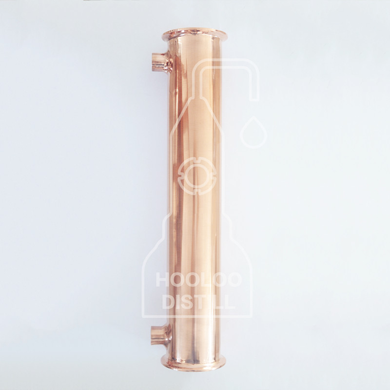 3 76mm OD91mm Copper Condenser 400mm 4 Pipes Inside ID 16mm Connection Internal Thread 1 2