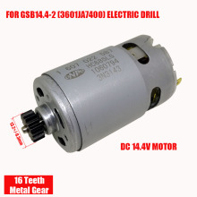 цена на Good quality DC14.4V 16 Teeth HC685LG MOTOR DC Gear Motor for BOSCH 3601JA7400  GSB14.4-2 electric drill maintenance spare parts