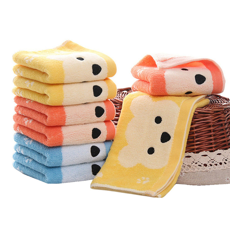2 Pcs Cute Bear Baby Face Towel Infant Absorbent Water Natural Cotton Wipe Hand Towels Newborn Wipe Washcloths