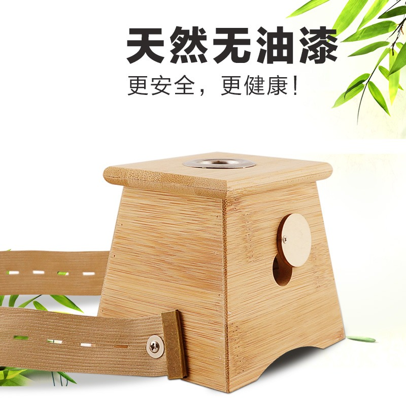 Moxibustion Bamboo Box Moxa Roll stick Holder Case Massage Device tool Moxibustion treatment therapy for arm leg abdomen massage bamboo double moxibustion box 2 moxa box utensils rack moxa roll