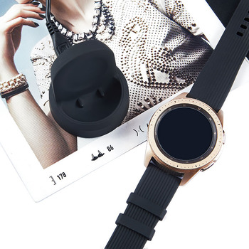 Wireless Charger Charging Dock Compatible Samsung Galaxy Watch 42MM 46MM SM-R800 JR Deals