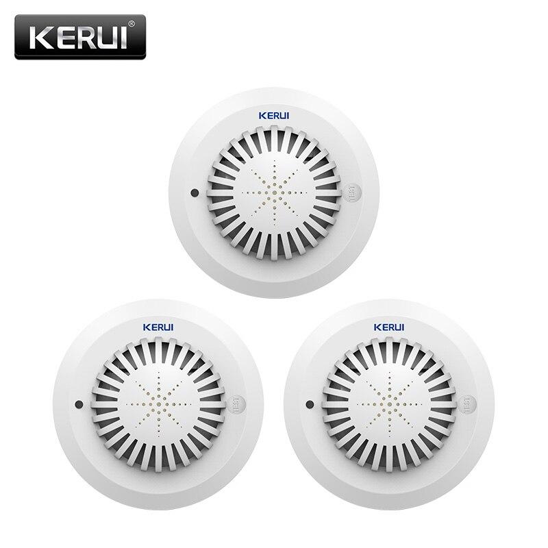KERUI SD03 High Sensitivity Voice Prompts Low Battery Remind Fire Smoke Detector Sensor linkage With Kerui