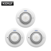 KERUI SD03 High Sensitivity Voice Prompts Low Battery Remind Fire Smoke Detector Sensor Linkage With