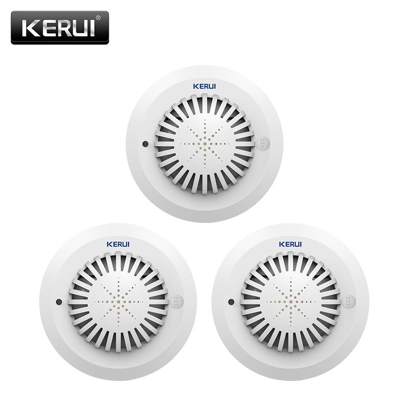 KERUI SD03 Высокая чувствительность голосовые подсказки низкая Батарея напомнить своих дыма/Сенсор связь с Kerui сигнализации дома Системы