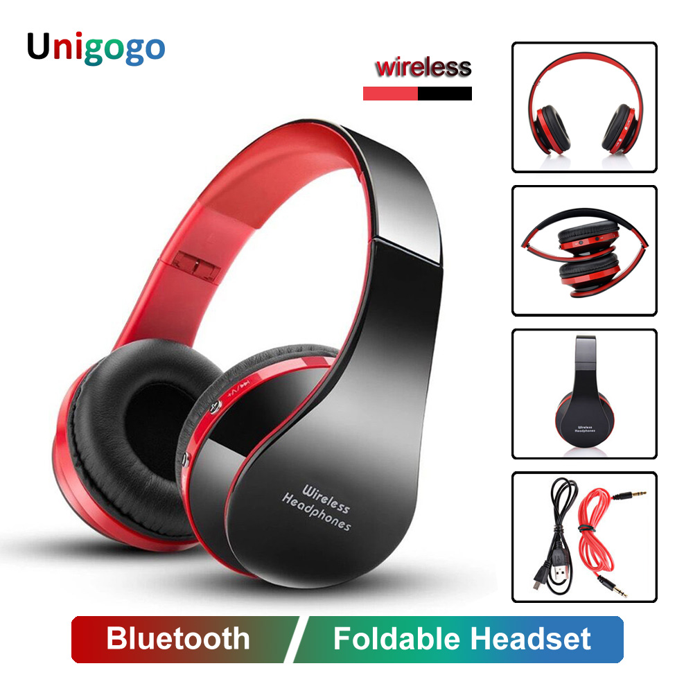 Folding HiFi Bluetooth Headphones Over-Ear Wired/Wireless Headphones Foldable Stereo Gaming Headset Gamer Adjustable Earphones
