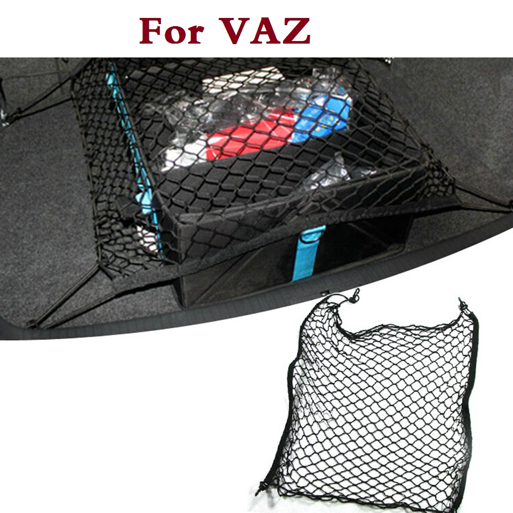 Car trunk Cargo Net Mesh Storage Holder 4 Hook For VAZ 2104 2109 2111 2121 4x4 EL Lada K ...